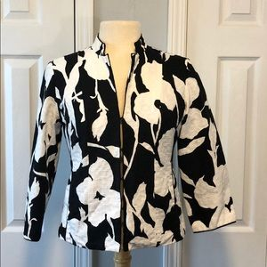 Chico's black and white blazer suit jacket